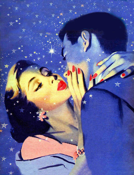 Wall Art - Painting - Couple In Romantic Night by Long Shot