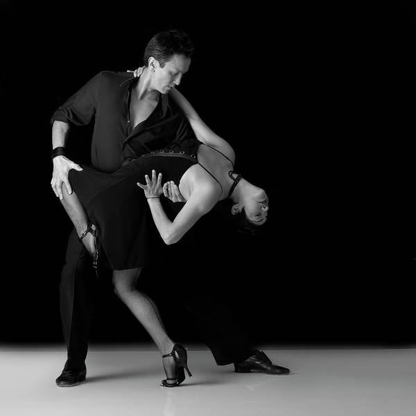 Heterosexual Couple Photograph - Couple Performing Salsa Dance Moves by Alfonse Pagano