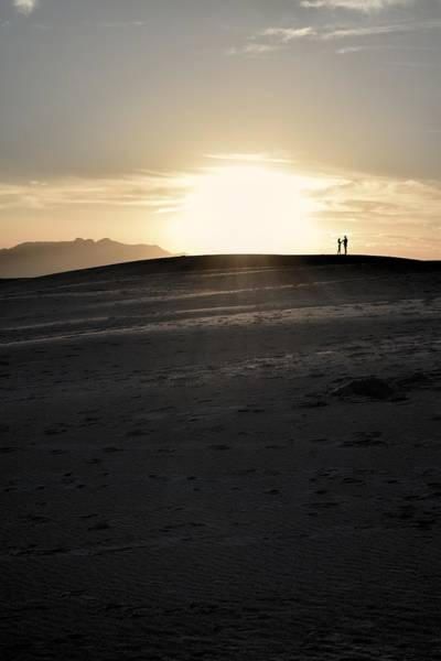 Photograph - Couple Silhouette At White Sands, New Mexico  by Chance Kafka