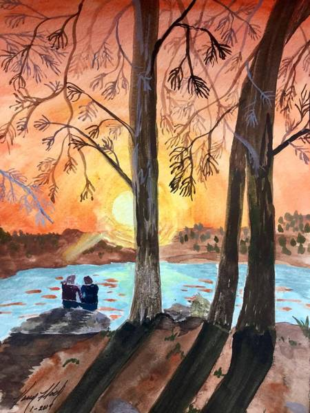 Painting - Couple Under Tree by Karen Floch