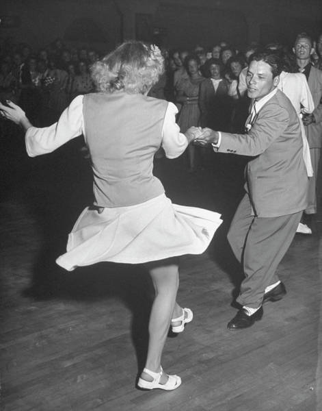 Heterosexual Couple Photograph - Couples Dancing In A Jitterbug Contest by Peter Stackpole