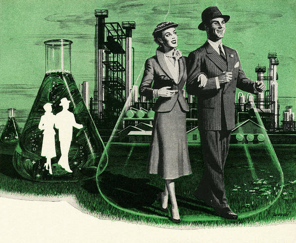 Archival Digital Art - Couples In Chemistry Beakers by Graphicaartis