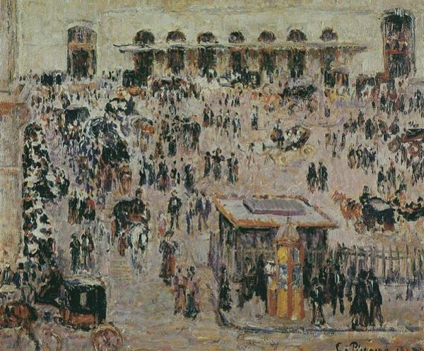 Lazare Painting - Cour Du Havre, Gare Saint-lazare, 1893 by Camille Pissarro