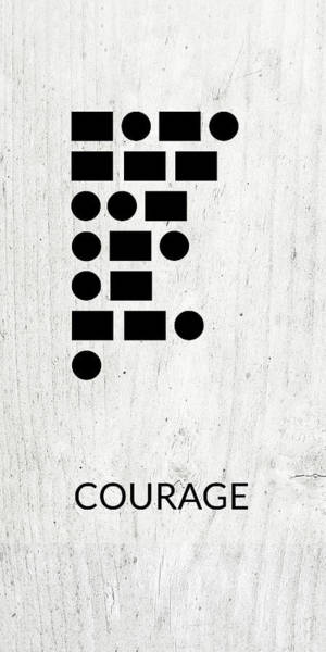Wall Art - Digital Art - Courage Morse Code 2- Art By Linda Woods by Linda Woods