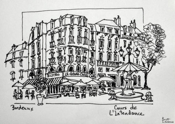 Outdoor Cafe Photograph - Cours De L'intendance Is In The Old by Richard Lawrence