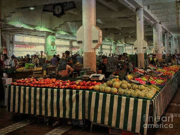 Photograph - Cours Saleya Market, Nice France by Luther Fine Art