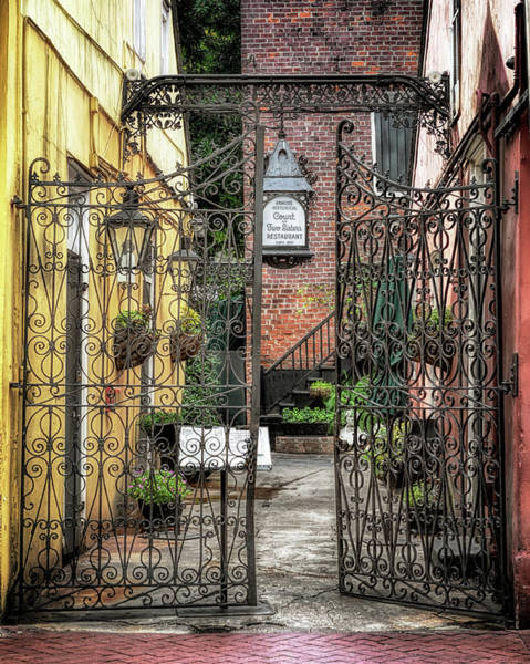 Photograph -  Court Of The Two Sisters Courtyard Gate by Susan Rissi Tregoning