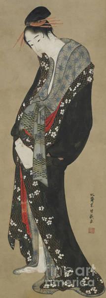 Wall Art - Painting - Courtesan, Edo Period by Hokusai