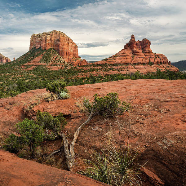 Photograph - Courthouse Butte And Bell Rock by Rick Strobaugh