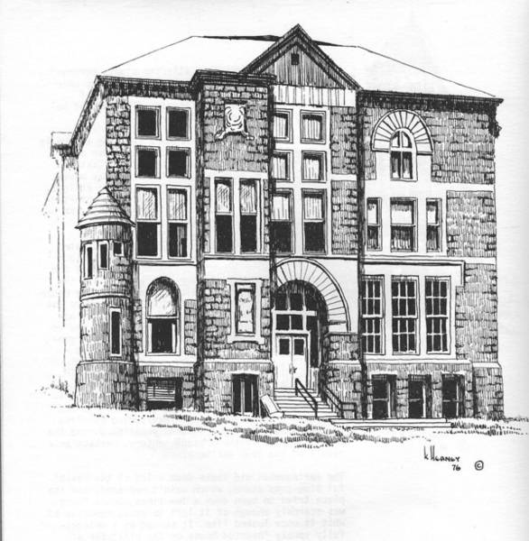 Drawing - Courthouse Helena Montana by Kevin Heaney