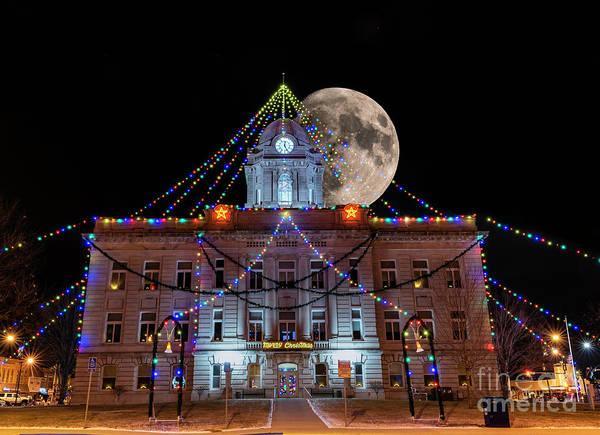Photograph - Courthouse Moon by Willard Sharp