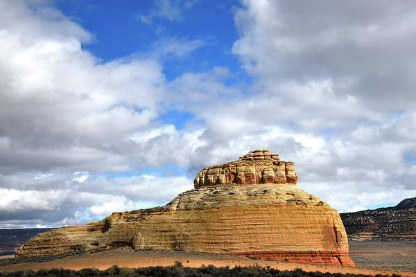 Photograph - Courthouse Rock Along Highway 191 In Utah by Ray Mathis