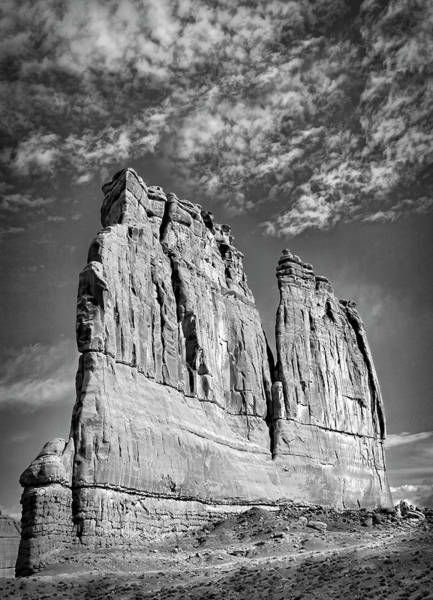 Photograph - Courthouse Towers Bw by Susan Candelario