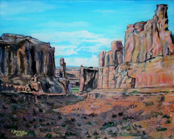 Courthouse Towers Painting - Courthouse Towers by Teresa Dominici