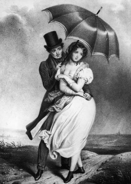 Shy Photograph - Courting Couple by Hulton Archive