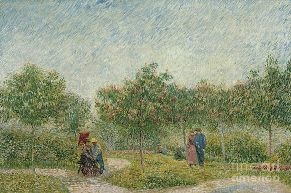 Wall Art - Painting - Courting Couples In The Voyer Dargenson Park In Asnieres, 1887 by Vincent Van Gogh