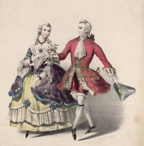 18th Century Digital Art - Courtly Dance by Rischgitz