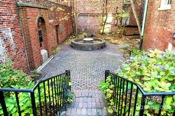 Photograph - Courtyard At The Old North Church Boston by John Rizzuto