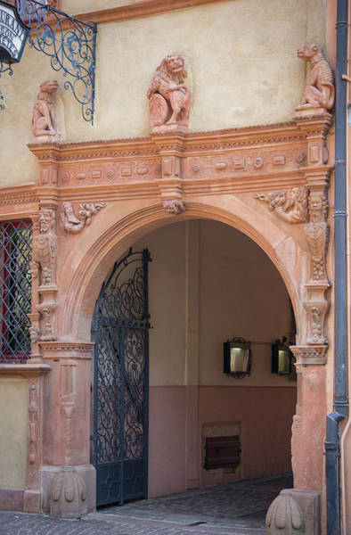 Wall Art - Photograph - Courtyard Entrance Maison Des Tetes by Teresa Mucha
