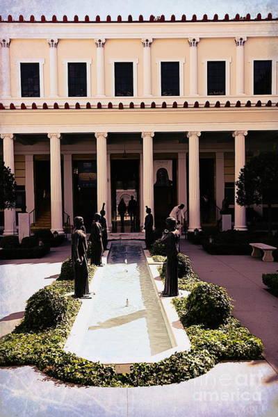 Getty Villa Photograph - Courtyard Jpaul Getty Villa Santa Monica California  by Chuck Kuhn