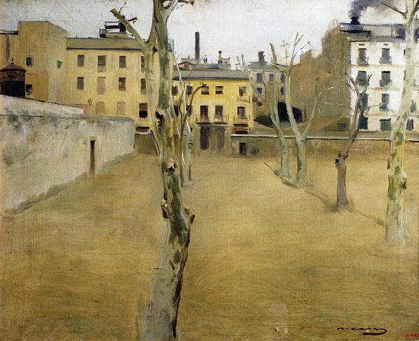 Wall Art - Painting - Courtyard Of The Old Barcelona Prison - Digital Remastered Edition by Ramon Casas