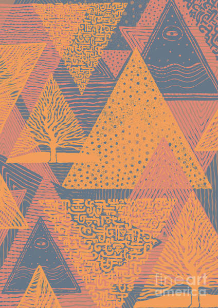 Wall Art - Digital Art - Cover Design With Triangles. Vector by Jumpingsack