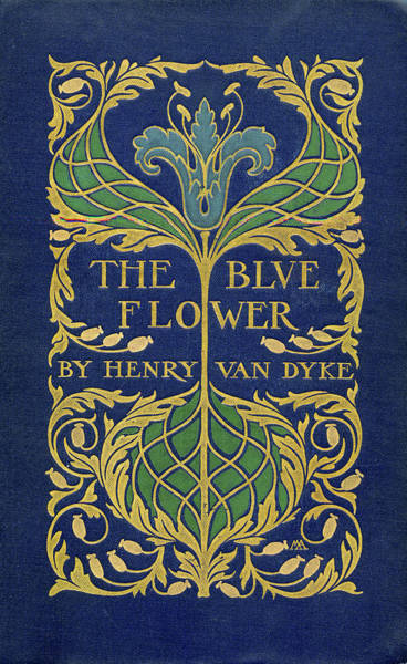Cover Design For The Blue Flower Art Print