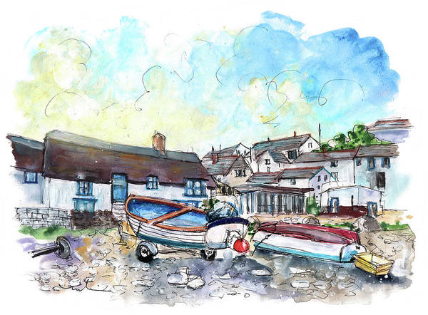 Wall Art - Painting - Coverack On Lizard Peninsula 08 by Miki De Goodaboom
