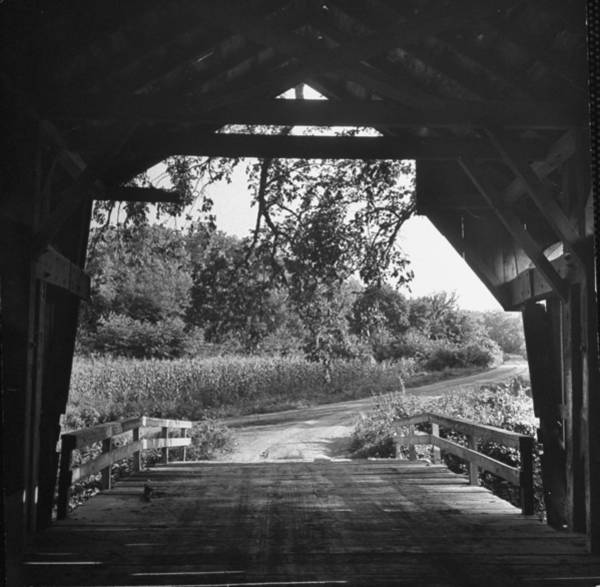 Small Town Usa Photograph - Covered Bridge Entrance Way.  Photo By by Bob Landry
