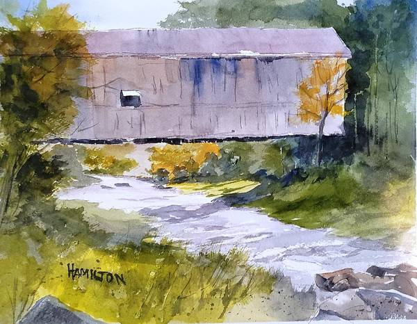 Painting - Covered Bridge by Larry Hamilton