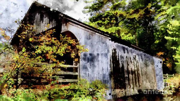 Digital Art - Covered Bridge by Mark Jackson