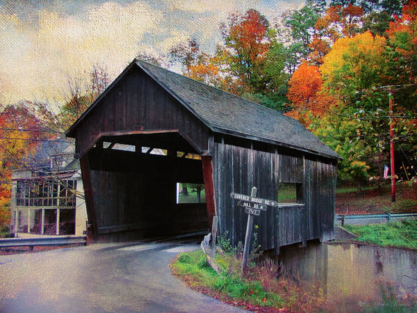 Photograph - Covered Bridge Road Warren Vermont by John Rivera