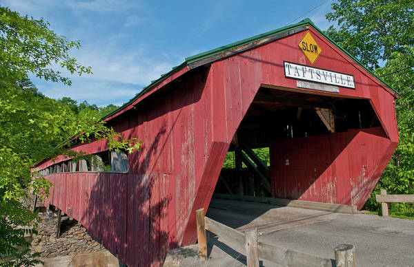 Vermont Photograph - Covered Bridge, Taftsville, Vermont, Usa by Danita Delimont