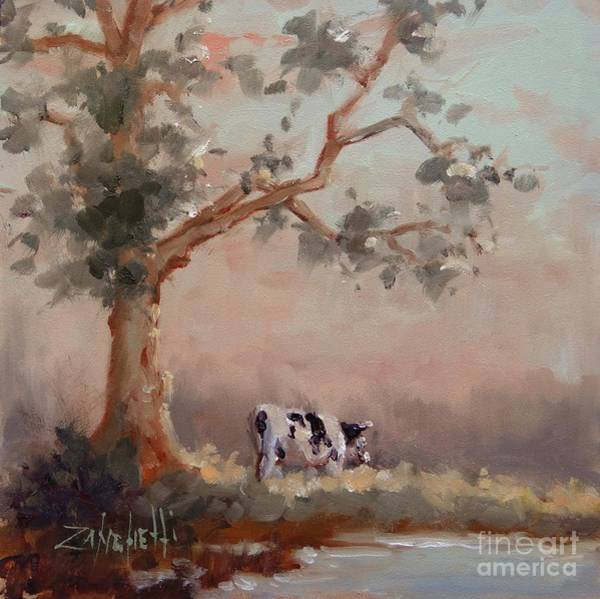 Wall Art - Painting - Cow Studies One by Laura Lee Zanghetti