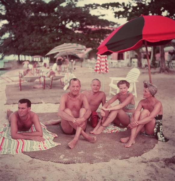 Greater Antilles Photograph - Coward And Chums by Slim Aarons