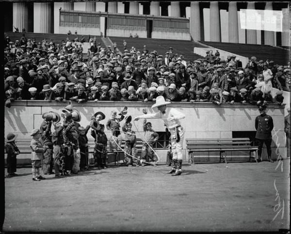 Soldier Field Photograph - Cowboy Actor Tom Mix Performing For by Chicago History Museum