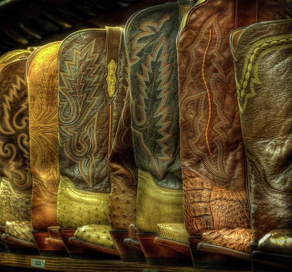 Texas A Photograph - Cowboy Boots by Dave Wilson, Webartz Photography