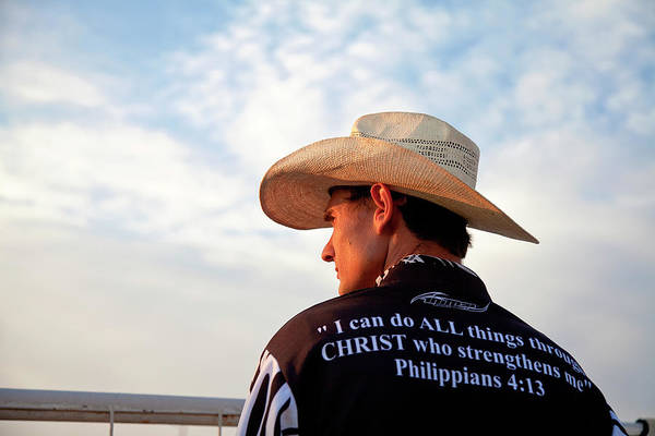 Wall Art - Photograph - Cowboy For Christ by Toni Hopper