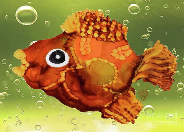 Painting - Cowboy Funky Fish by Christine Dekkers