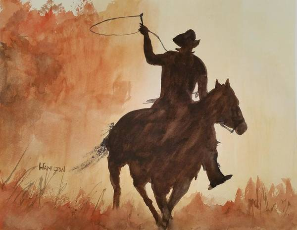 Painting - Cowboy Hero by Larry Hamilton