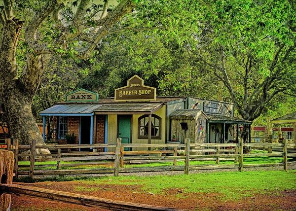 Fence Post Digital Art - Cowboy Town At Irvine Regional Park I by Linda Brody