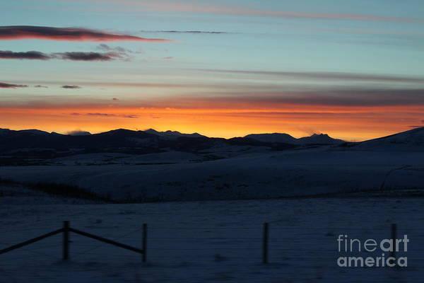 Photograph - Cowboy Trail Sunset by Ann E Robson