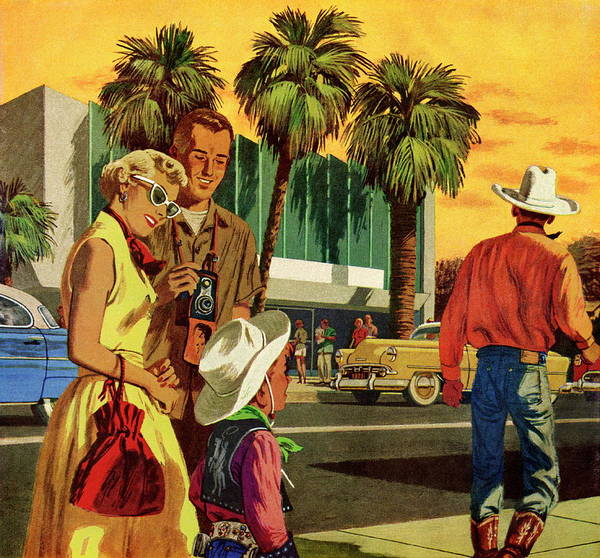 Adult Digital Art - Cowboys In The City by Csa Images