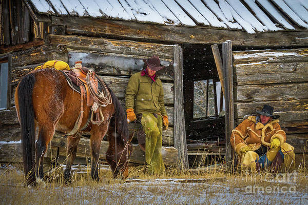 Wall Art - Photograph - Cowboys On Break by Inge Johnsson