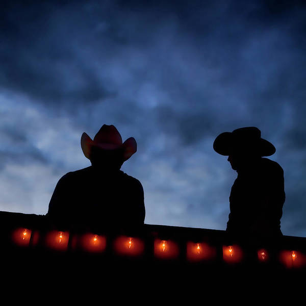 Adult Male Photograph - Cowboys Take Break Outside Of by Ascent Xmedia