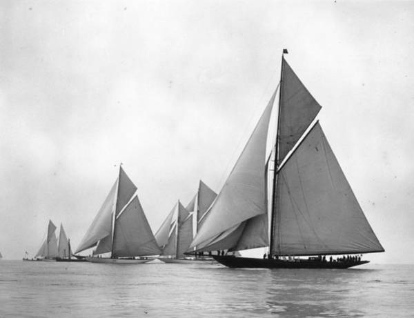 Sailing Photograph - Cowes Race by Kirby