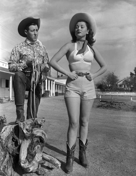 Bra Photograph - Cowgirl Blues by Archive Photos