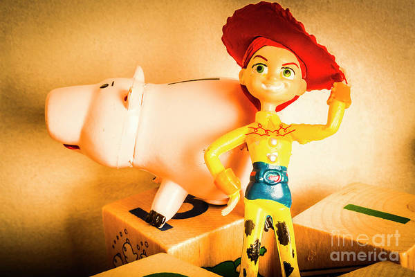 Pig Photograph - Cowgirl Figurine by Jorgo Photography - Wall Art Gallery