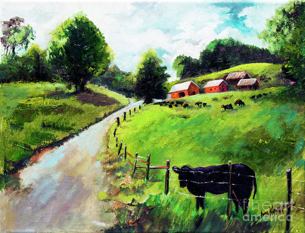 Painting - Cows by Jan Dappen