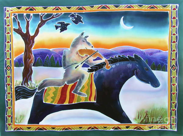 Coyote Painting - Coyote Music by Harriet Peck Taylor